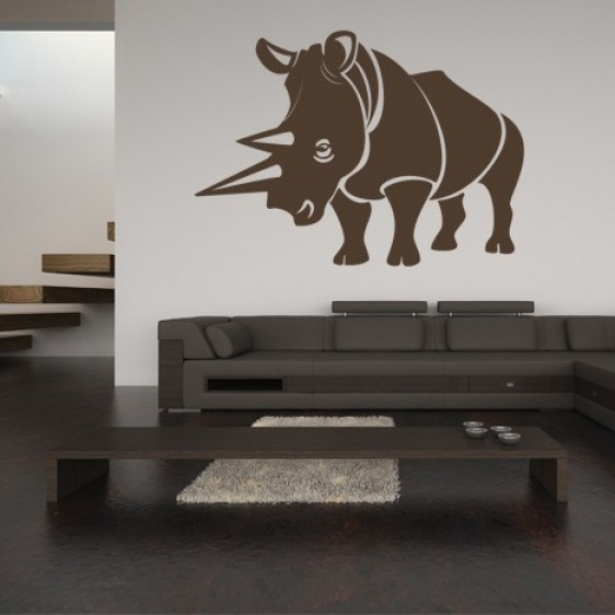 Sticker Mural Rhinocéros