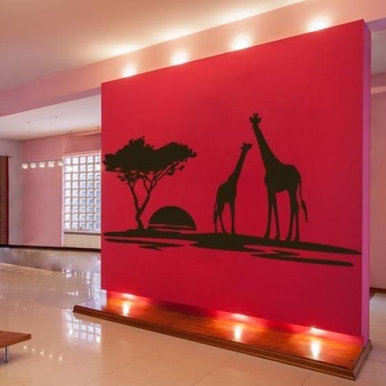 Sticker Mural Girafe