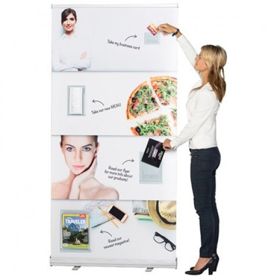 Porte brochures carte de visite magnétique