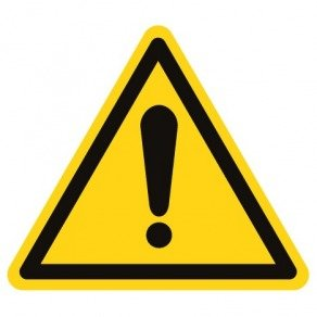 Pictogramme danger général ISO 7010-W001