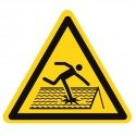Pictogramme danger toiture fragile ISO7010-W036