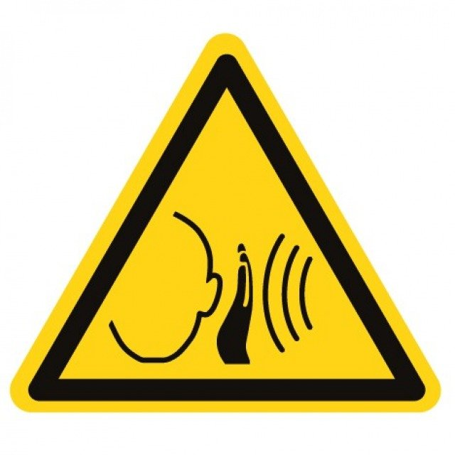 Pictogramme danger bruit fort soudain ISO7010-W038