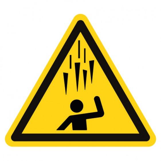 Pictogramme danger trébuchement ISO7010-W007
