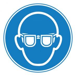 Pictogramme lunettes de protection obligatoires ISO7010-M004