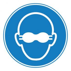 Pictogramme lunettes de protection opaques obligatoires ISO7010-M007