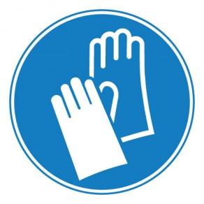 Pictogramme gants de protection obligatoires ISO7010-M009