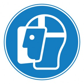Pictogramme visière de protection obligatoire ISO7010-M013
