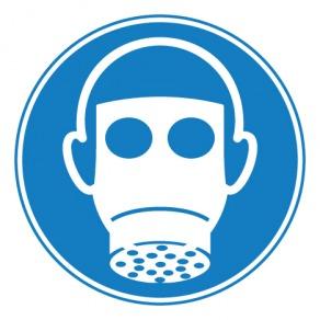 Pictogramme protection des voies respiratoires obligatoire ISO7010-M017