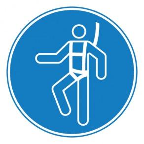 Pictogramme harnais de sécurité obligatoire ISO7010-M018