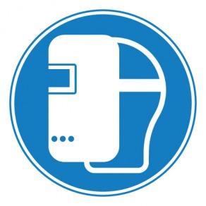 Pictogramme masque de soudage obligatoire ISO7010-M019