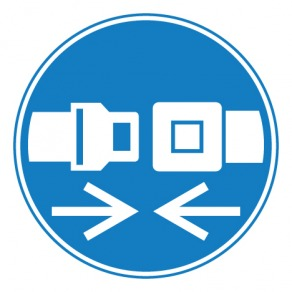 Pictogramme obligation d'attacher la ceinture de sécurité ISO7010-M020