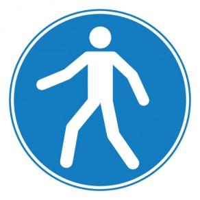 Pictogramme obligation d'utiliser le passage ISO7010-M024