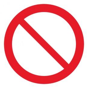 Pictogramme interdiction générale ISO7010-P001