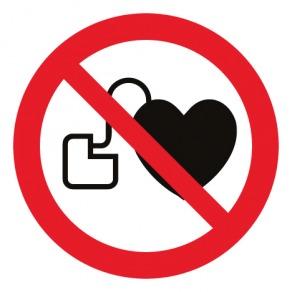 Pictogramme interdit aux personnes porteuses d'un stimulateur cardiaque ISO7010-P007
