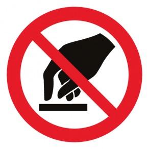 Pictogramme interdiction de toucher ISO7010-P010