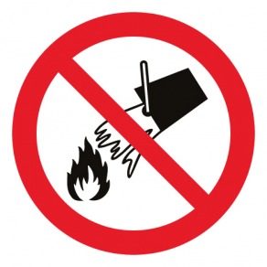Pictogramme interdiction d'éteindre avec de l'eau ISO7010-P011