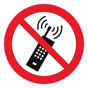 Pictogramme interdiction d'activer des téléphones mobiles ISO7010-P013