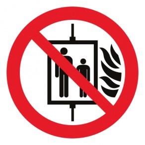 Pictogramme interdiction d'utiliser l'ascenseur en cas d'incendie ISO7010-P020