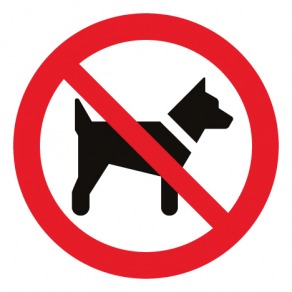 Pictogramme interdit aux chiens ISO7010-P021