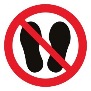 Pictogramme interdiction de marcher ou de stationner à cet endroit ISO7010-P024