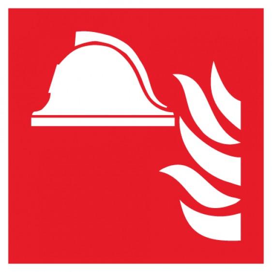 Pictogramme ensemble d'équipements de lutte contre l'incendie ISO7010-F004