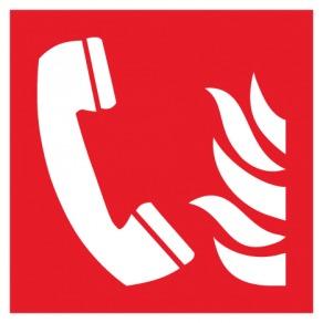 Pictogramme téléphone à utiliser en cas d'incendie ISO7010-F006