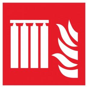 Pictogramme système fixe d'extincteurs d'incendie en série ISO7010-F008