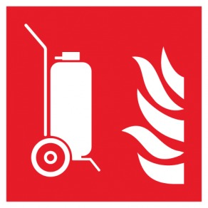 Pictogramme extincteur d'incendie sur roues ISO7010-F009