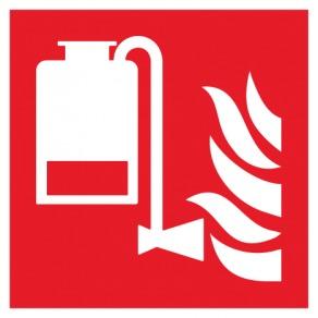 Pictogramme unité portable d'application de mousse ISO7010-F010