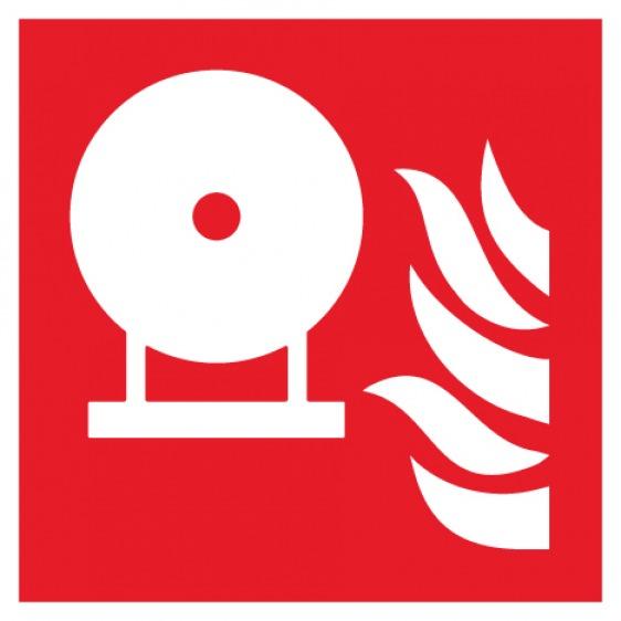 Pictogramme extincteur d'incendie fixe ISO7010-F013