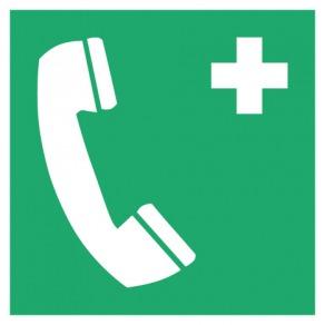 Pictogramme téléphone d'urgence ISO7010-E004