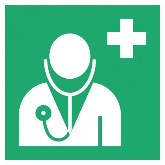 Pictogramme médecin ISO7010-E009
