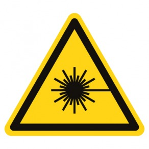 Pictogramme danger rayonnement laser ISO7010-W004