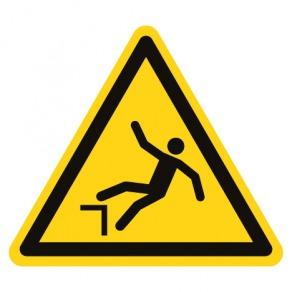 Pictogramme danger chute avec dénivellation ISO7010-W008