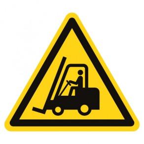 Pictogramme danger chariots élévateurs ou autres véhicules industriels ISO7010-W014