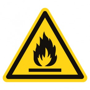 Pictogramme danger matières inflammables ISO7010-W021