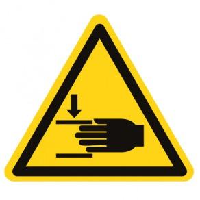 Pictogramme danger écrasement des mains ISO7010-W024
