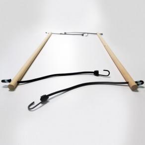 Tourillon bois avec tendeurs et crochets