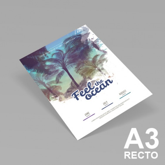 Affiches A3 recto